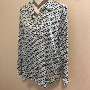XL print blouse